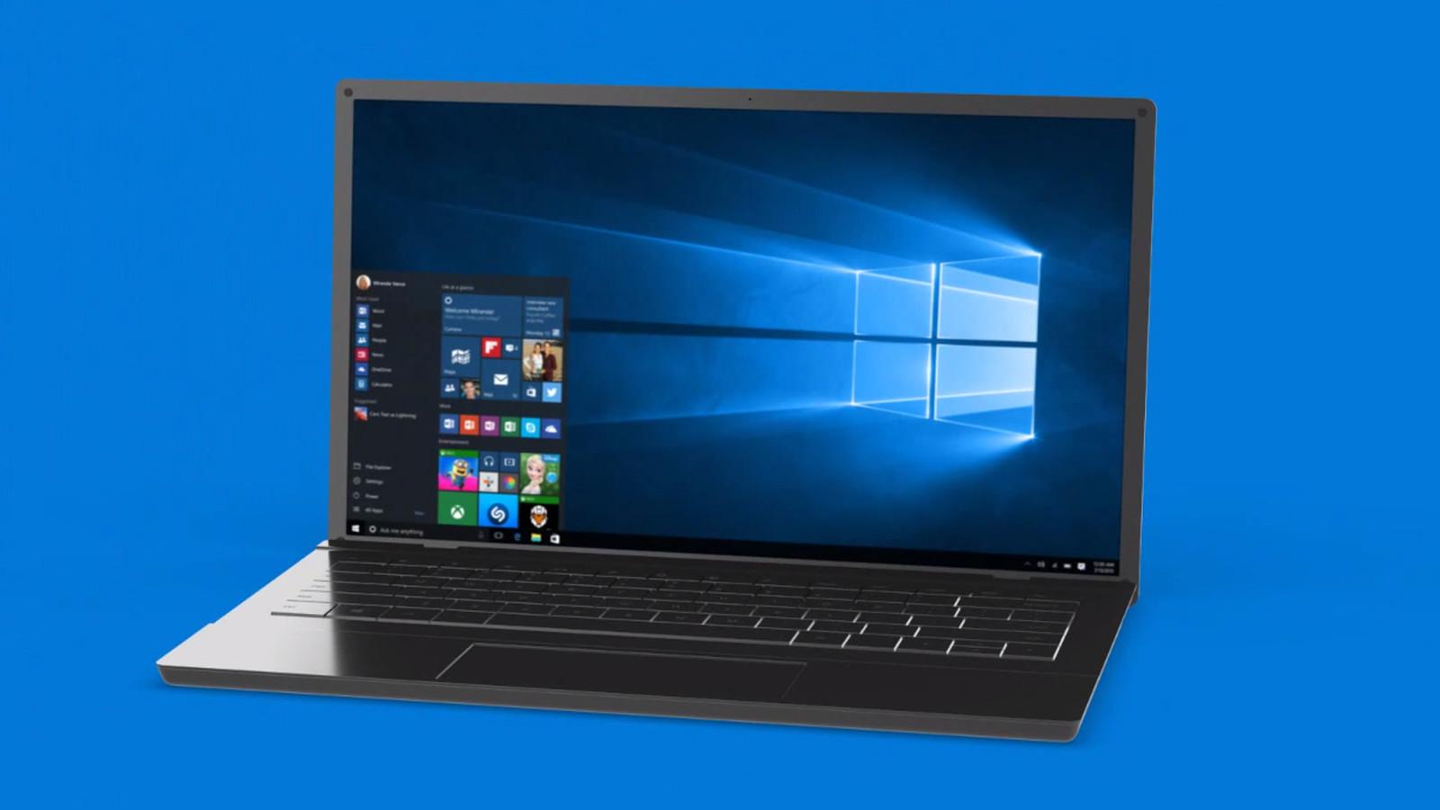 Windows 10's New Desktop Wallpaper Is Made Out Of Light