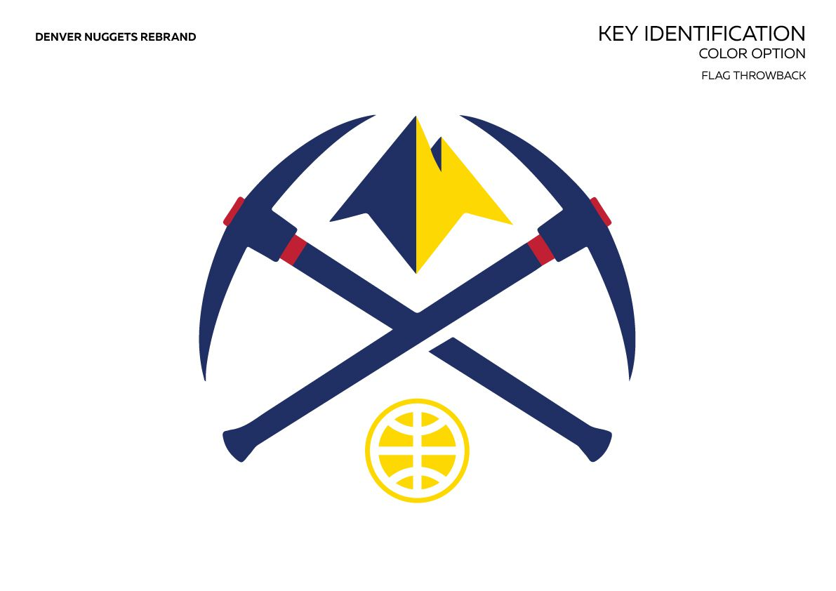 Denver Nuggets Rebrand Idea With Uniform And Logo Mockups