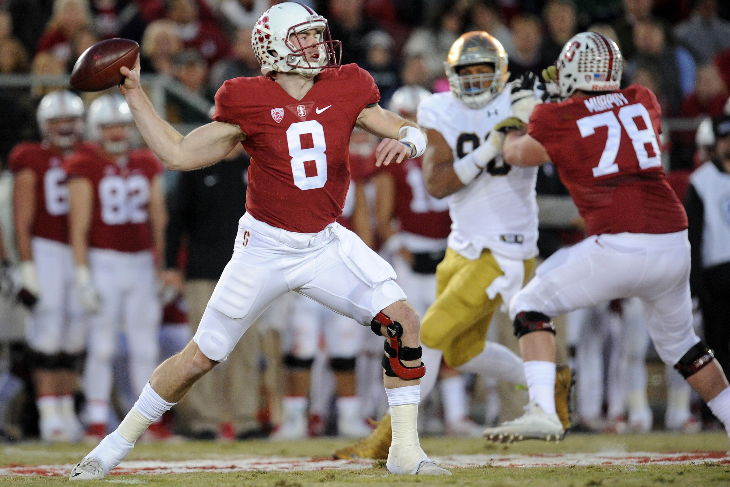 college fooball stanford notre dame score