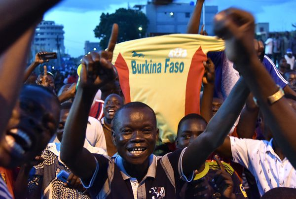 Supporters of coup leader Gilbert Diendere