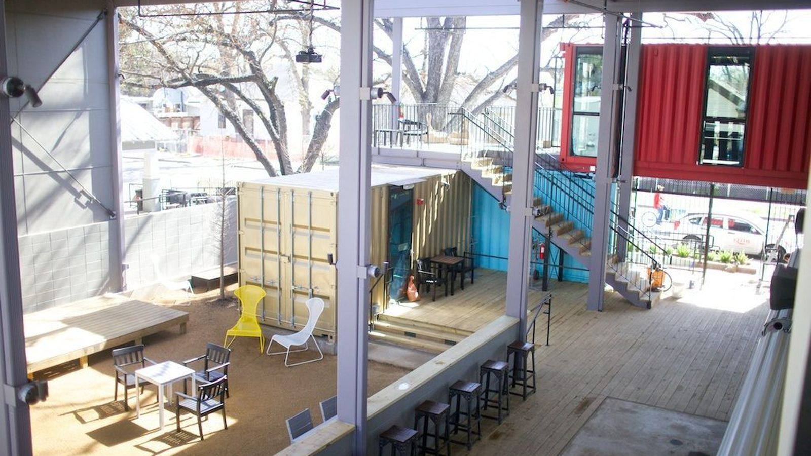 Go inside container bar 39 s shipping container architecture eater austin - Shipping container homes austin ...