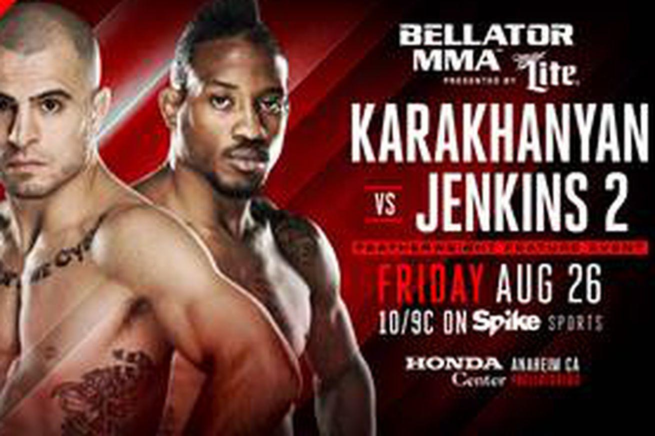 community news, Bellator 160 fight card now features Georgi Karakhanyan vs Bubba Jenkins 2 on Spike TV