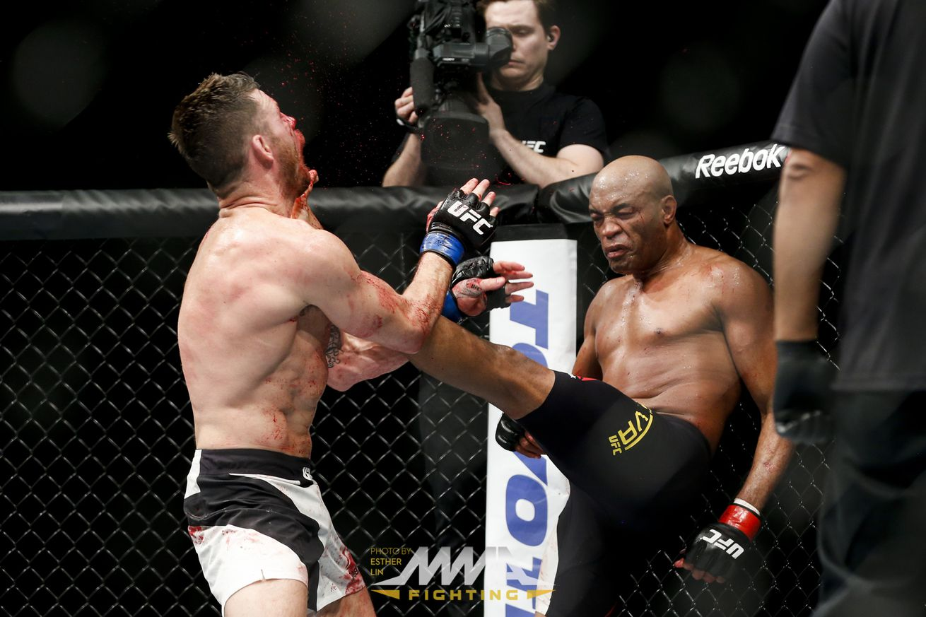 anderson silva fight tonight live