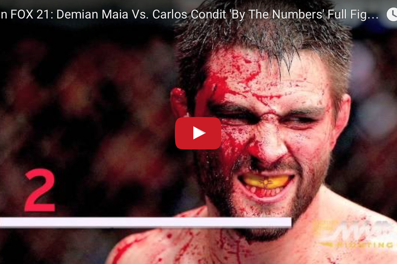 Demian Maia vs Carlos Condit By The Numbers fight video preview for UFC on FOX 21