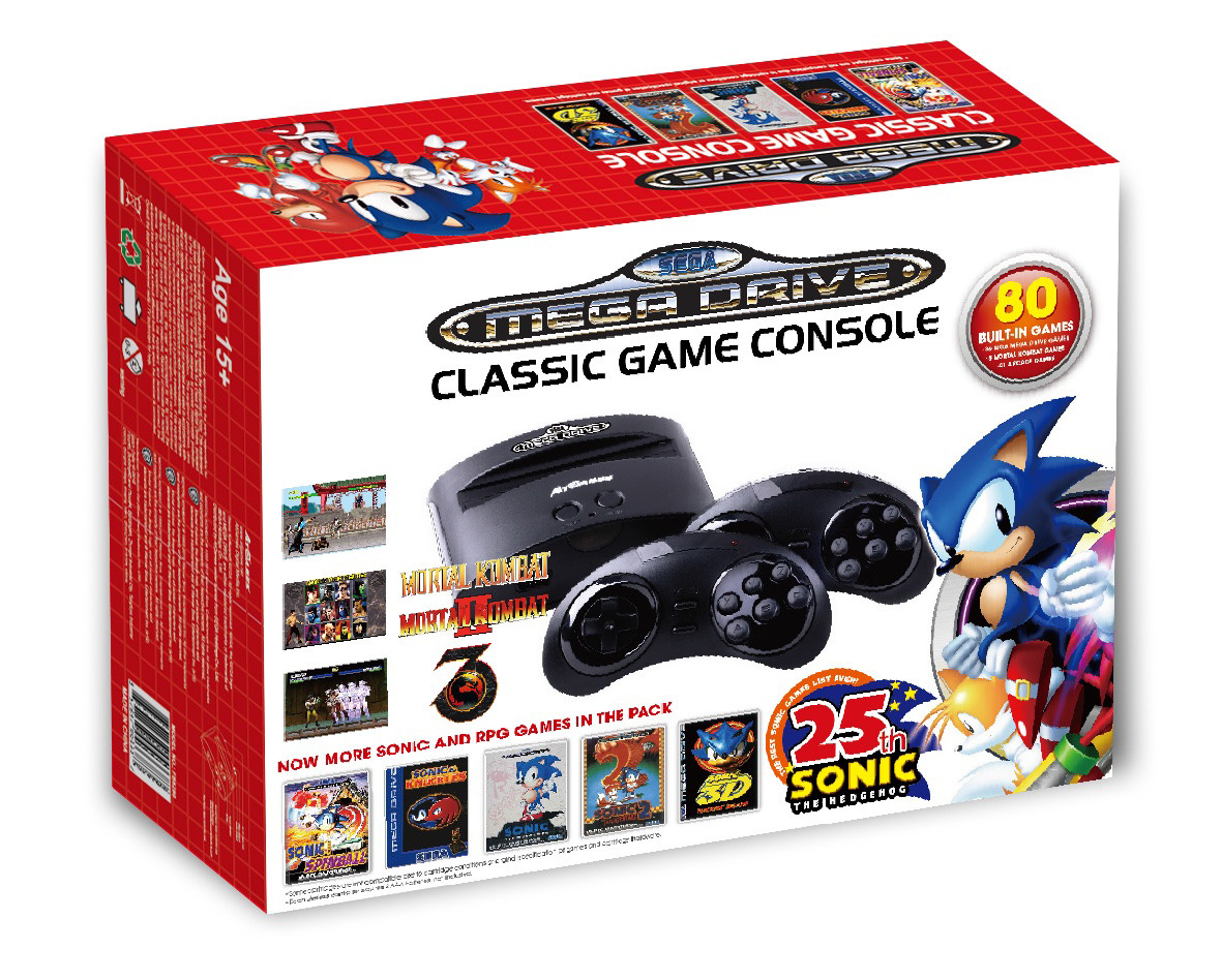 Updated plug play sega genesis console can t compete - Atgames sega genesis classic game console game list ...