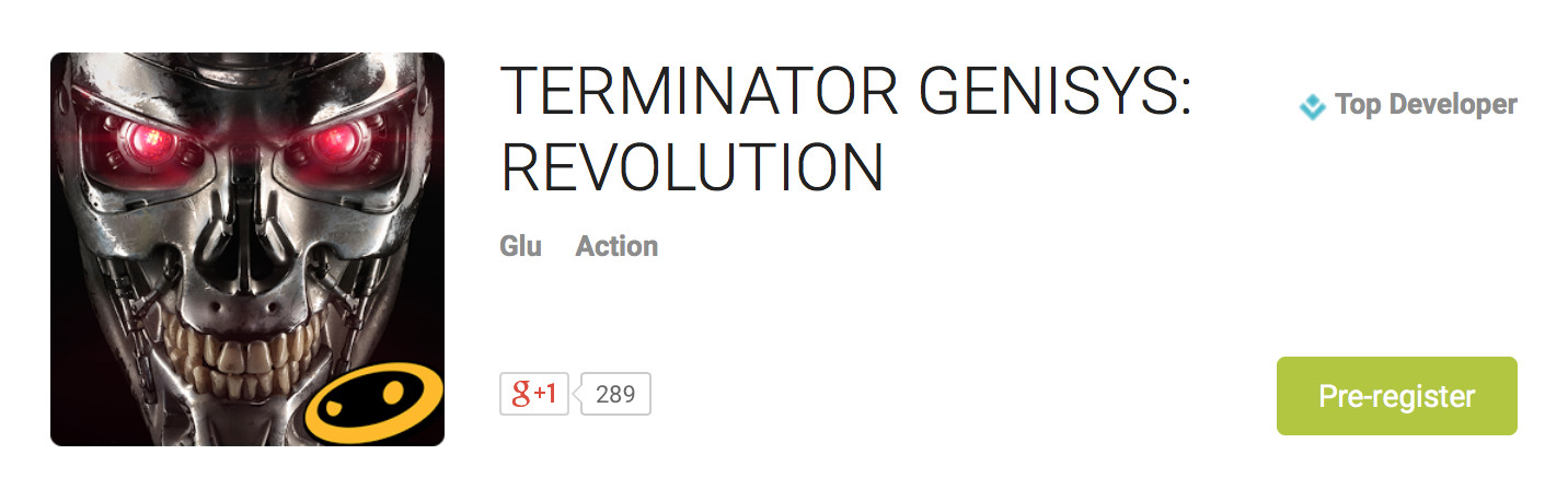 terminator genysis revolution pre-register google play