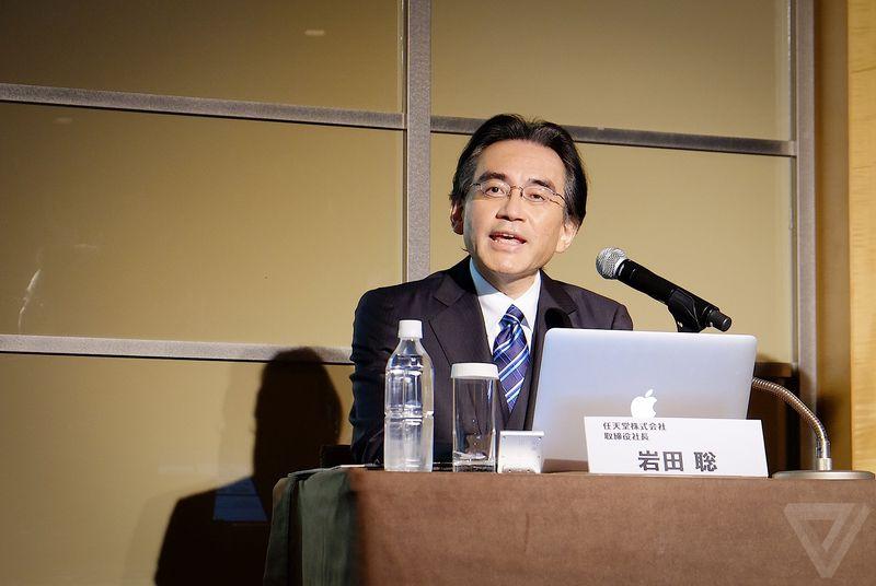 Prezident Nintenda Satoru Iwata na setkání investorů.