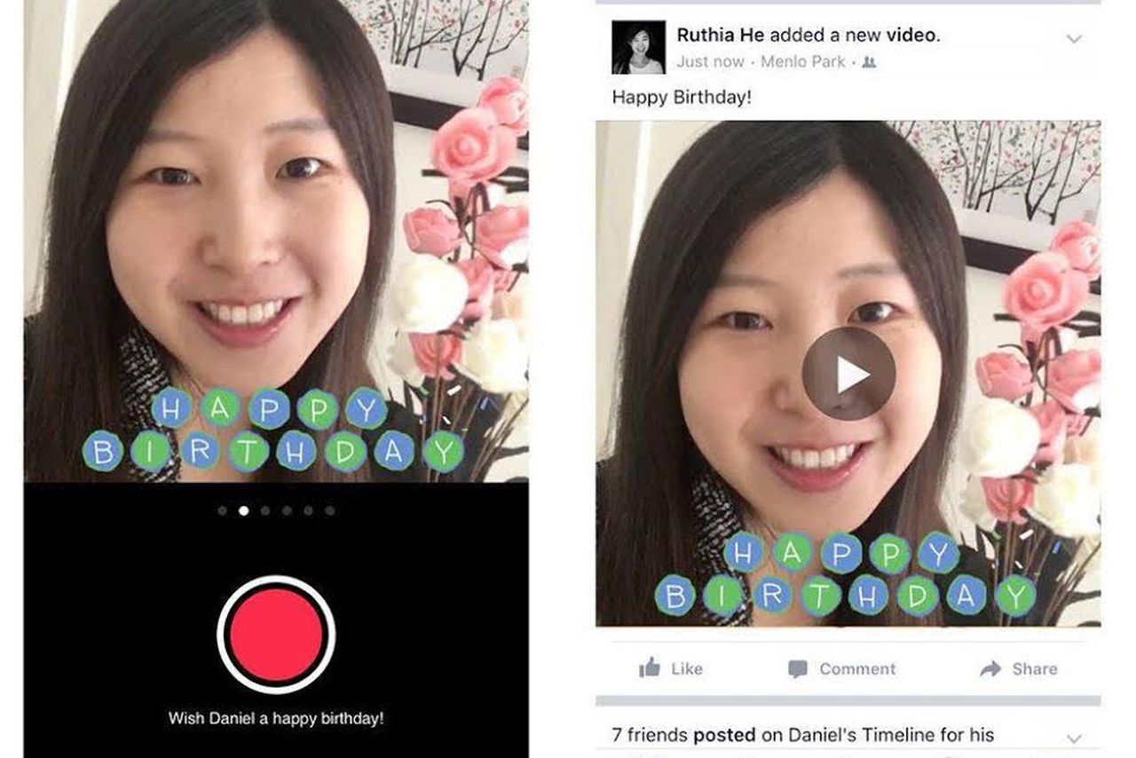 Facebook adds video to make 'Happy Birthday' feel special again