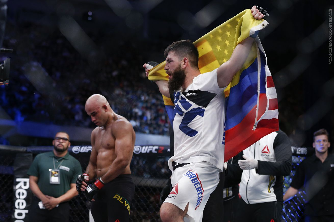Bryan Barberena happy playing spoiler role, but not surprised by his success