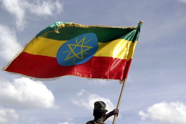 A ceremony to celebrate the 8th Ethiopian National Flag Day in Addis Ababa, Ethiopia on October 19, 2015