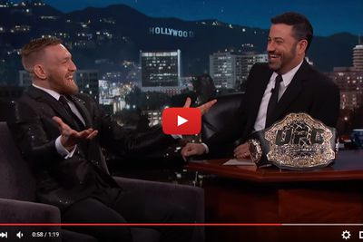 community news, Video: Conor McGregor on Jimmy Kimmel, hasnt faced anyone in UFC who didnt fight like a bitch