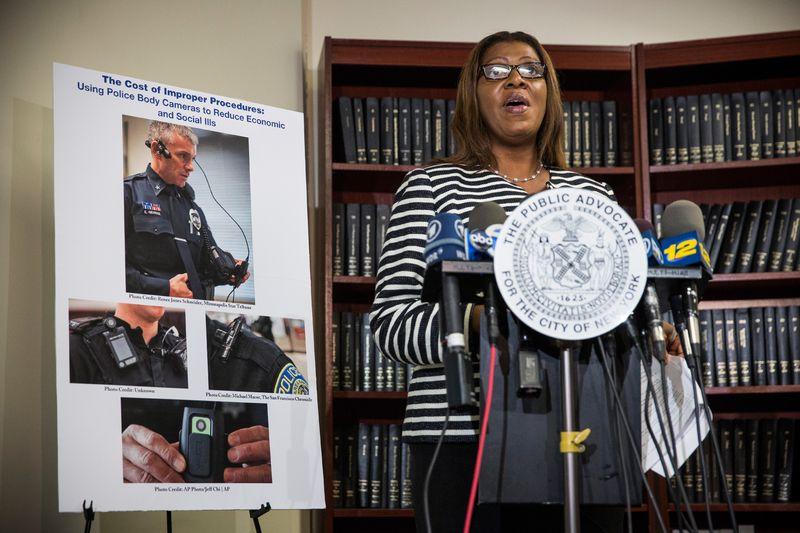 New York City public advocate police body cameras