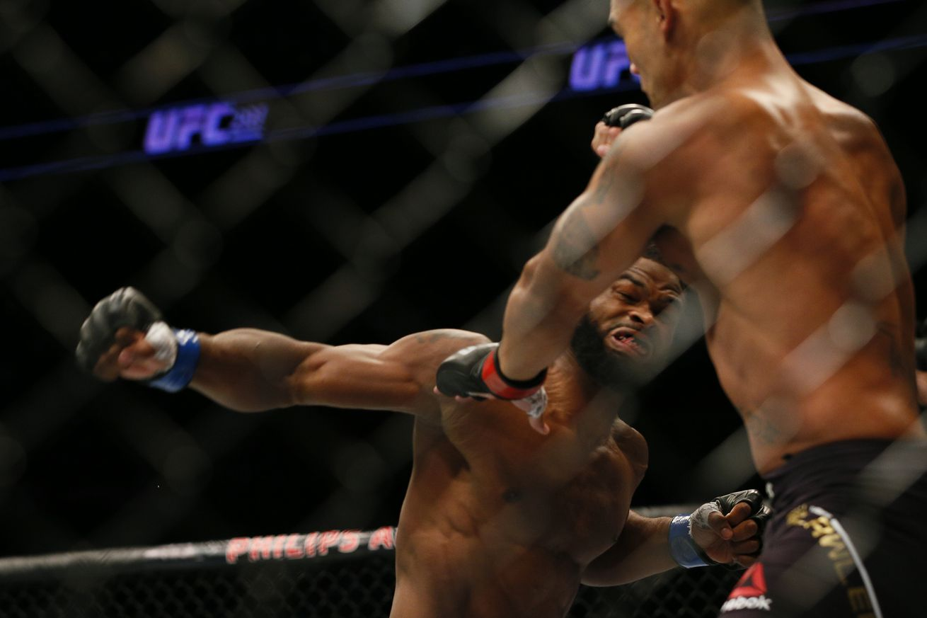 Knockout! Watch Tyron Woodleys title winning finish of Robbie Lawler at UFC 201 last night