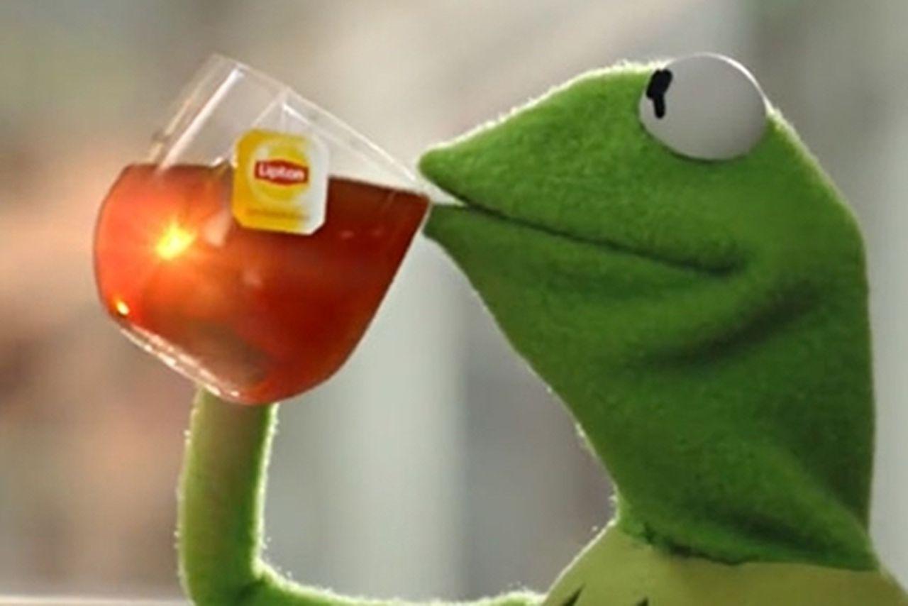 Kermit Tea Quotes. QuotesGram  |Kermit The Frog Meme Drinking Tea