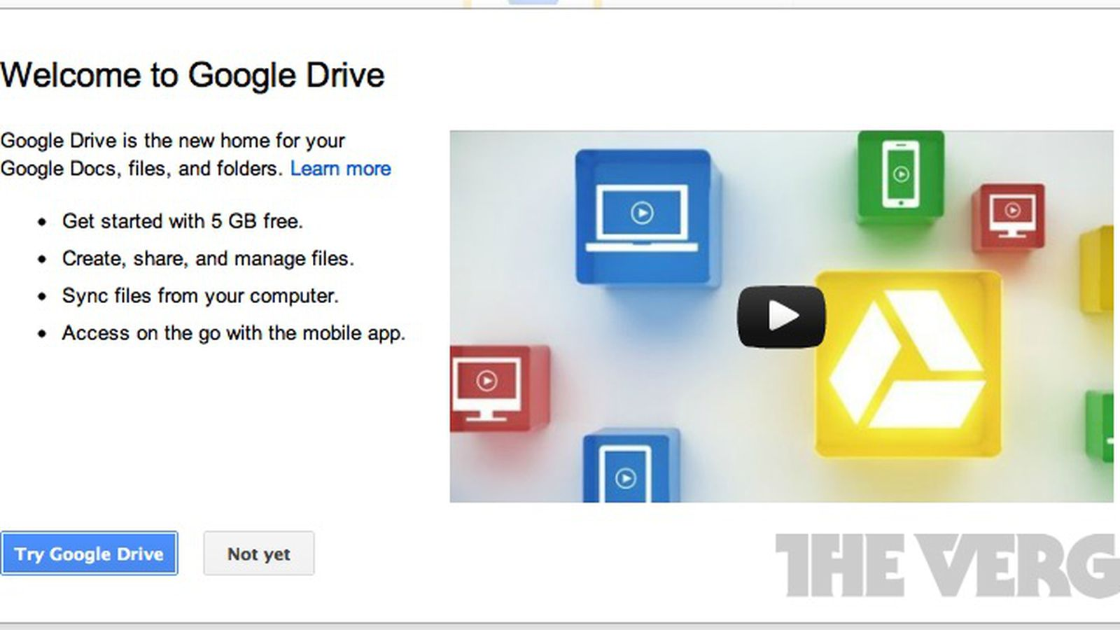 Google Docs now redirects to Google Drive