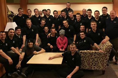 WCHA: Alaska Visits Teammate Justin Woods At Seattle Ronald McDonald House