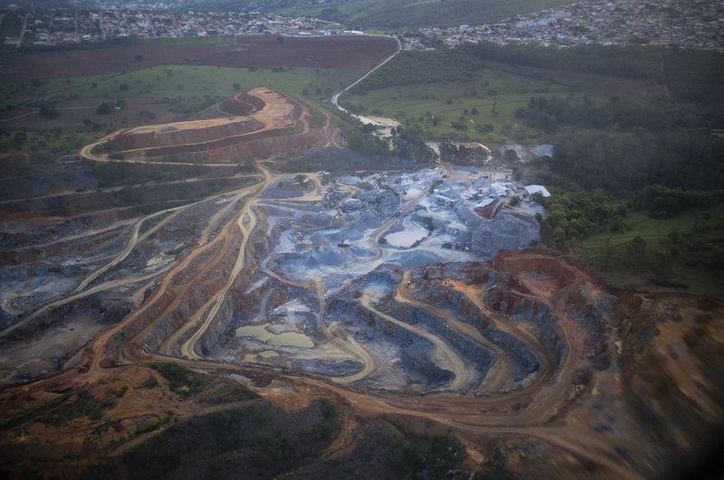 A Brazilian granite and limestone quarry in 2014