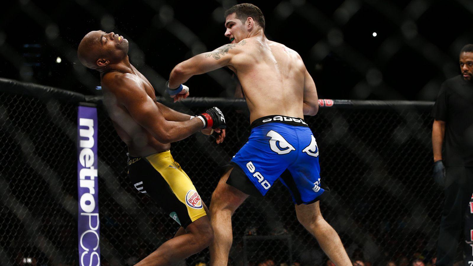 Ufc 168 Fight Poster Chris Weidman vs. Ande...