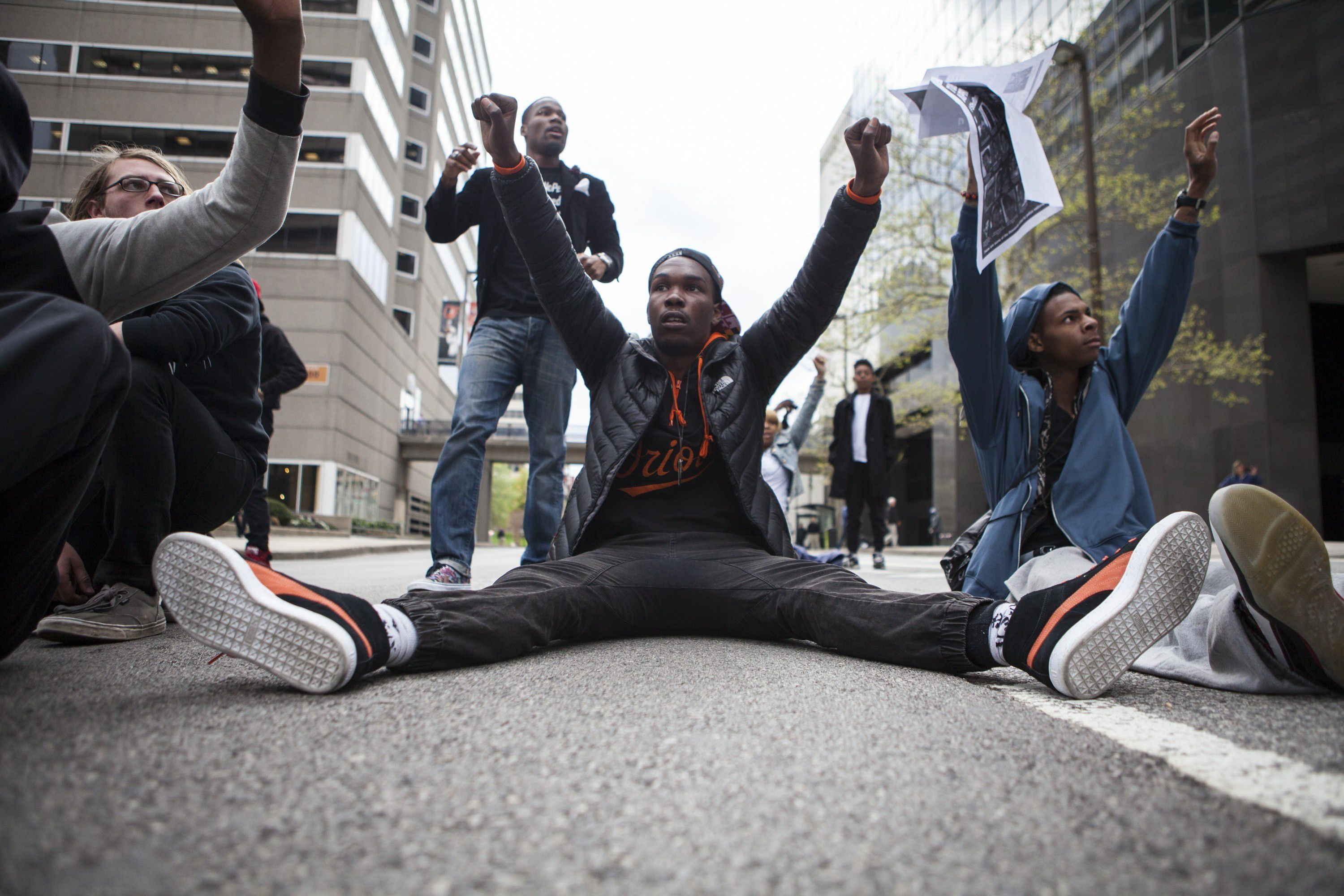 Protests in Baltimore escalate over death of FREDDIE GRAY after.