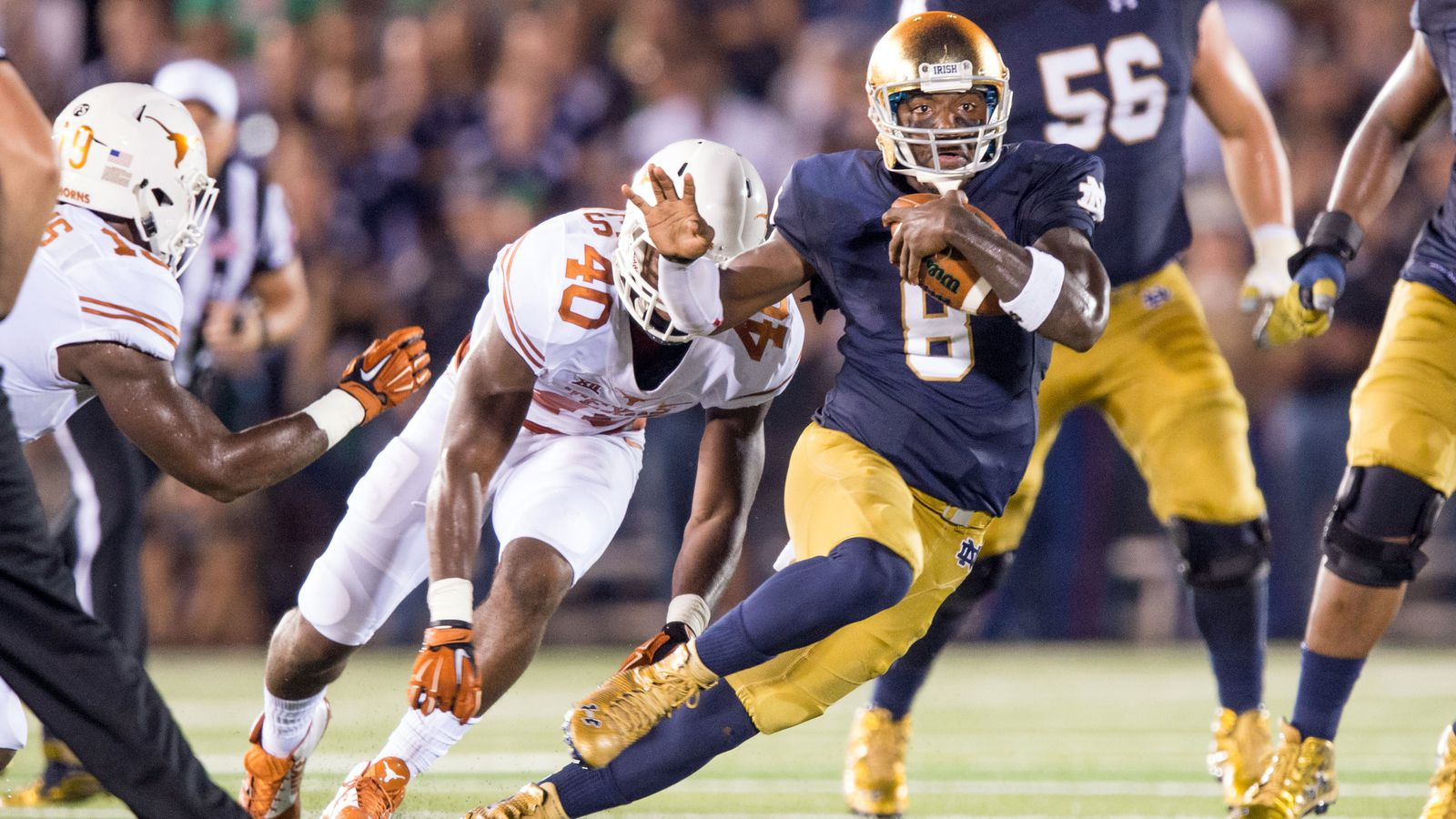 notre dame game today score college football latest lines