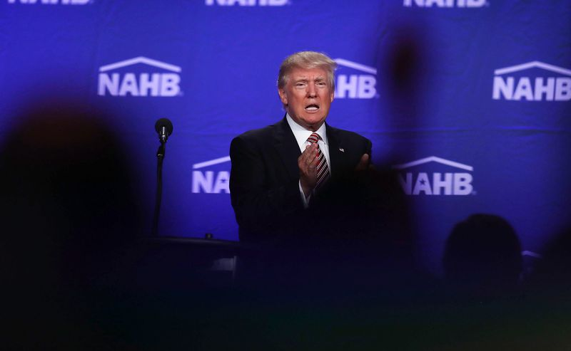 Donald Trump Addresses The National Association Of Home Builders Conference In Miami Beach