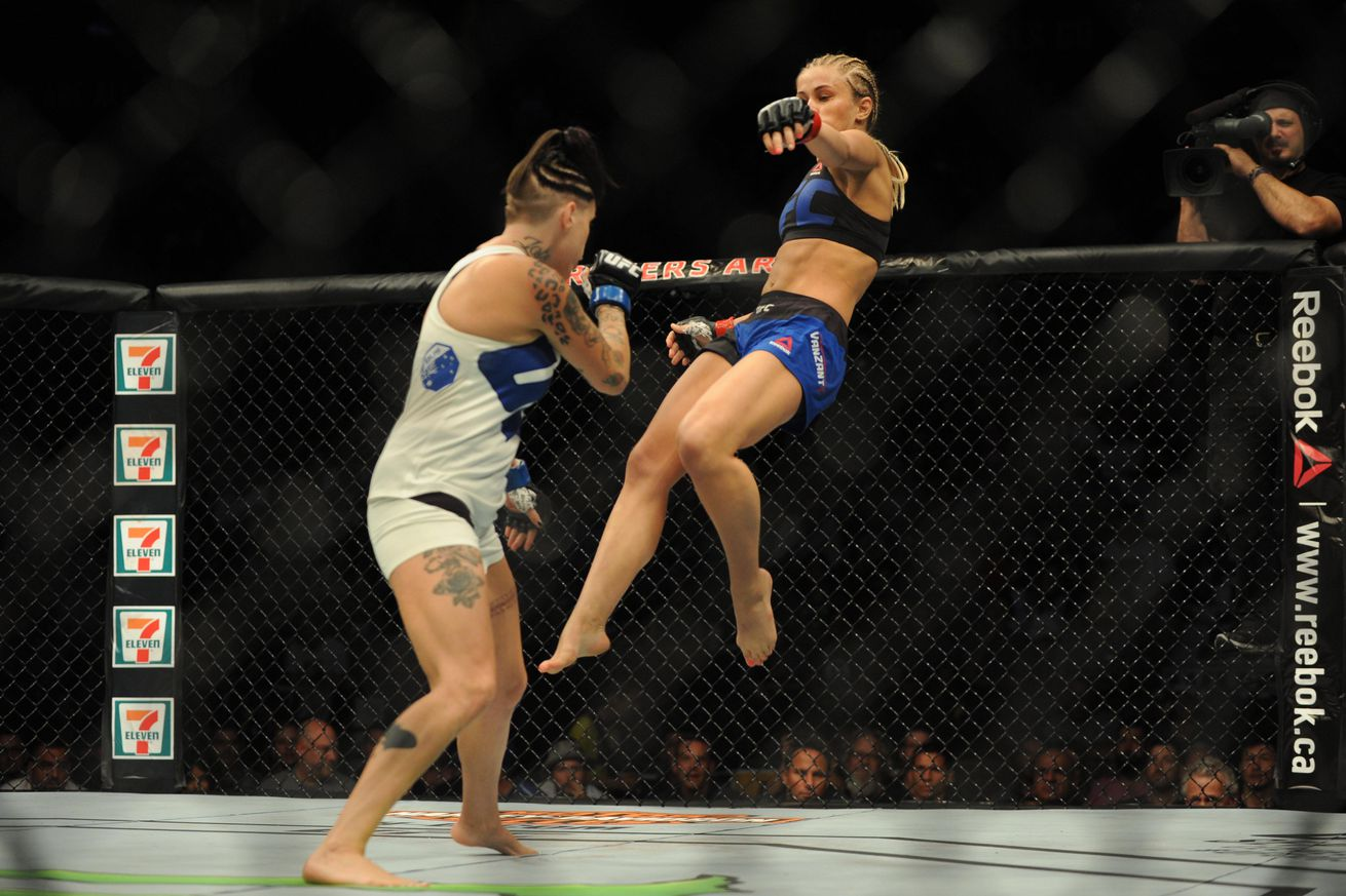community news, UFC on FOX 21 video: Mature Paige VanZant explains head kick knockout of Bec Rawlings