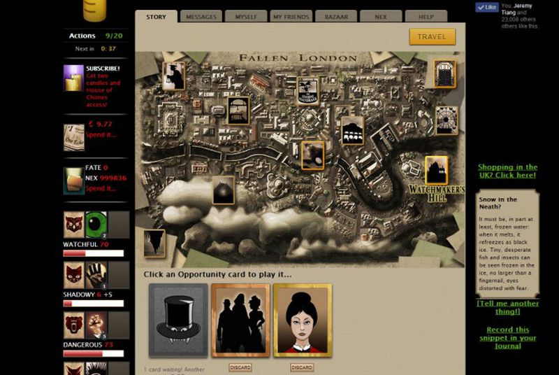 Cult-hit browser game Fallen London is coming to iPhone