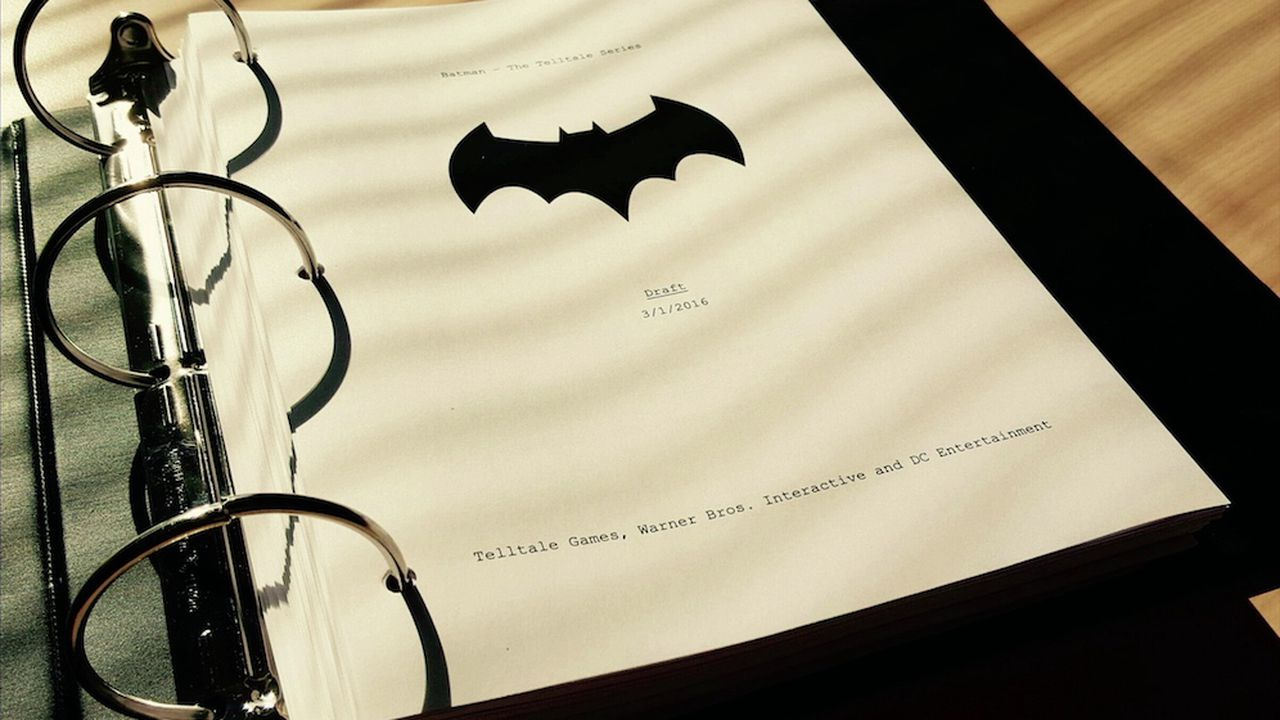 Binder with the Batman script