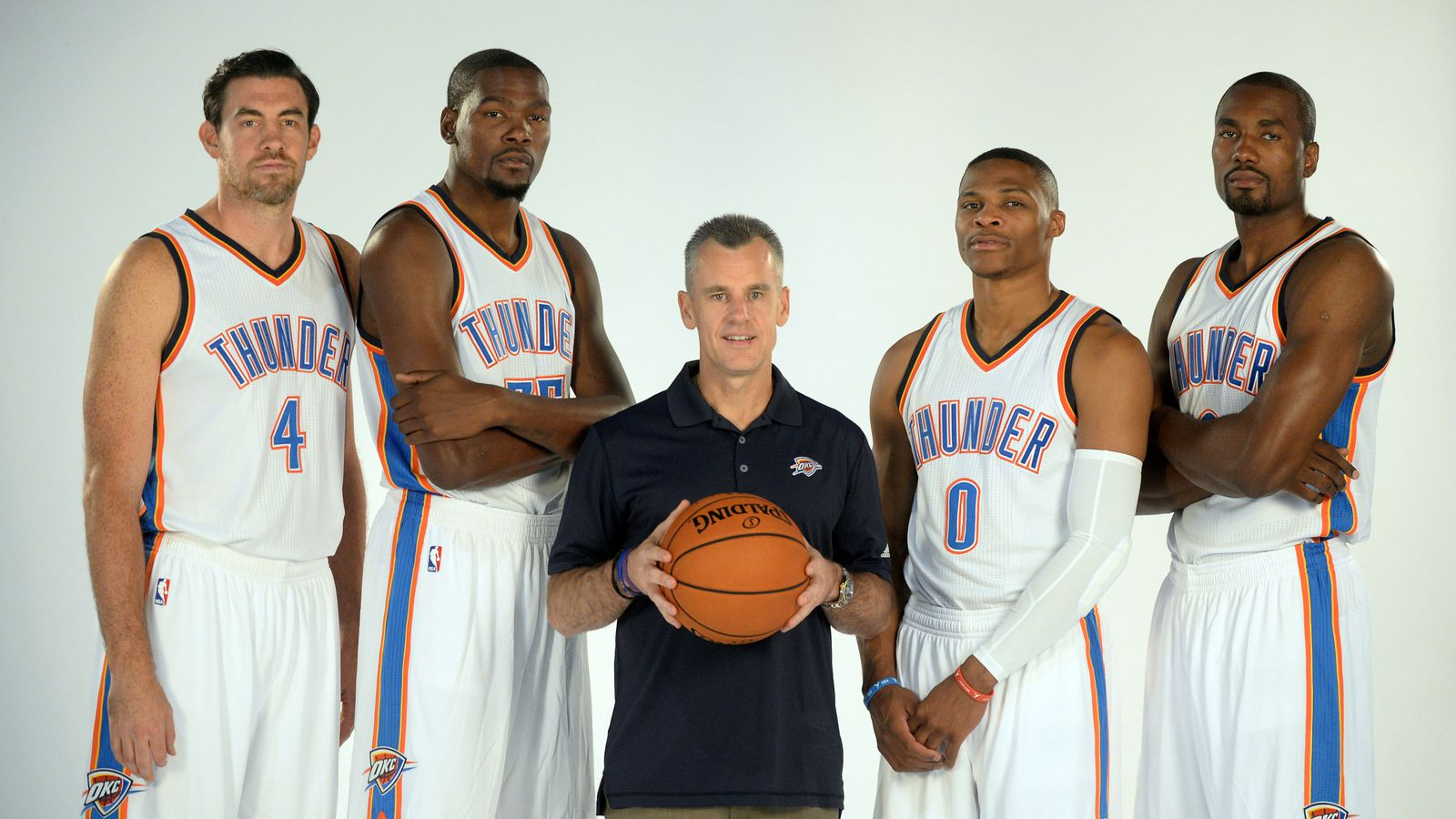 oklahoma city thunder 2015 roster kevin durant and