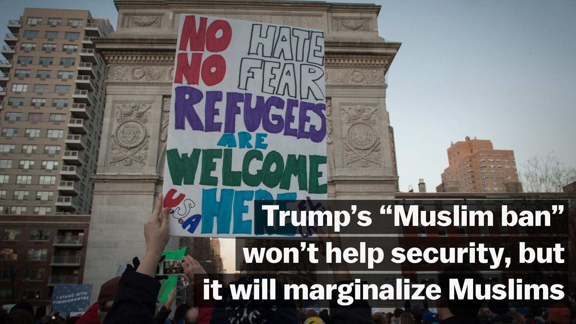 Trump says his refugee ban is about protecting America. It's really about Islamophobia.