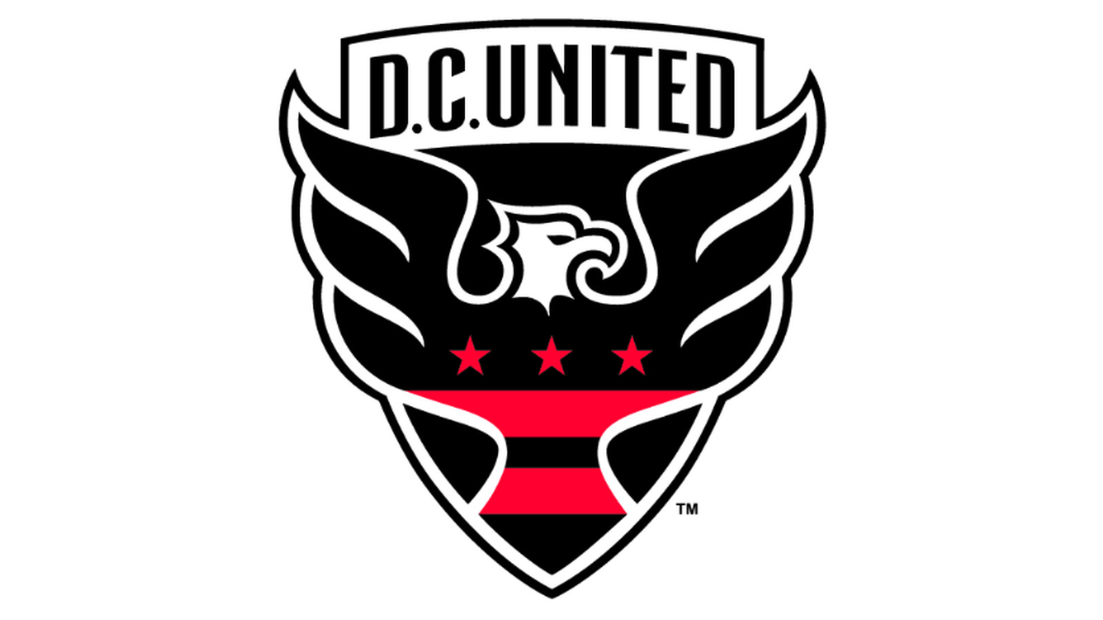 Let's review D.C. United's new badge - Black And Red United Running Horse Png
