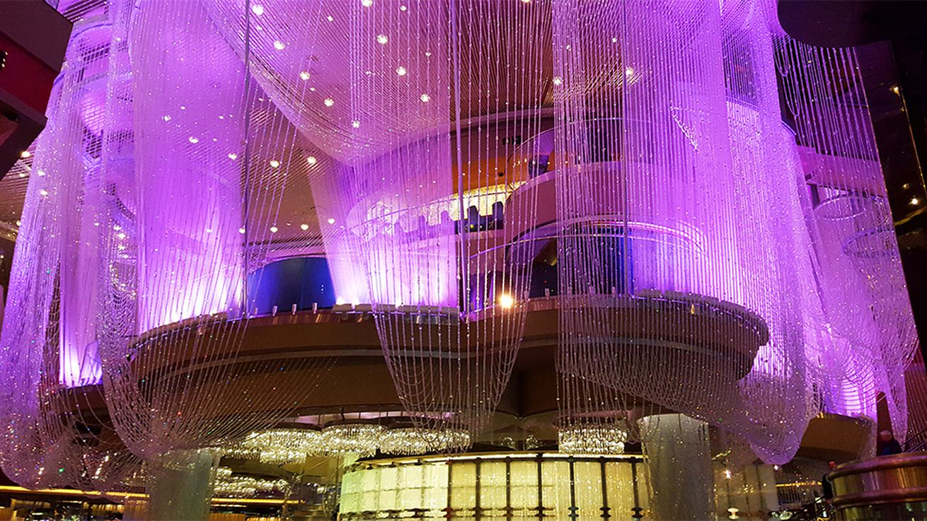 Million Dollar Chandelier Bar and Starbucks Additions to