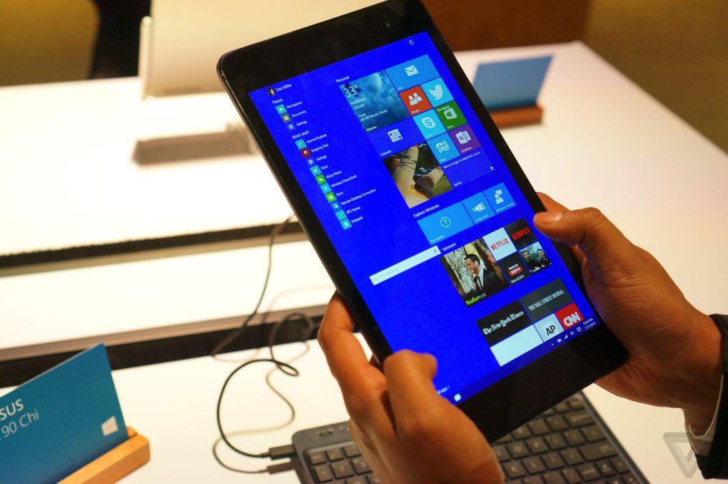 windows 10 on small tablets looks like a miniature pc. Black Bedroom Furniture Sets. Home Design Ideas