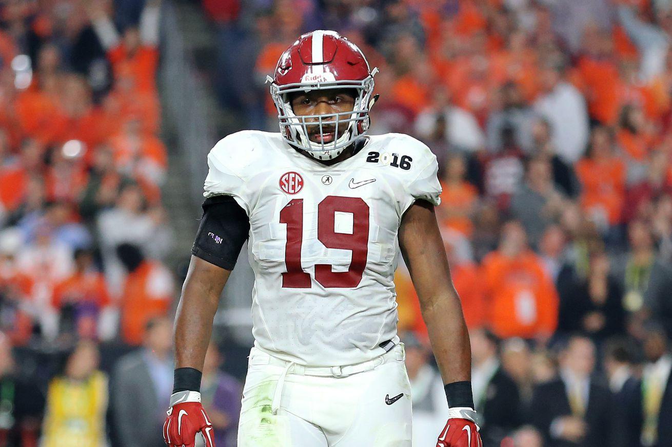 NFL Jerseys - 2016 NFL Mock Draft: Green Bay Packers pick Reggie Ragland ...