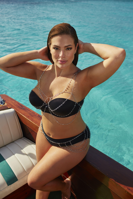 Ashley Graham-Designed Plus-Size Swimsuits Feature String ...