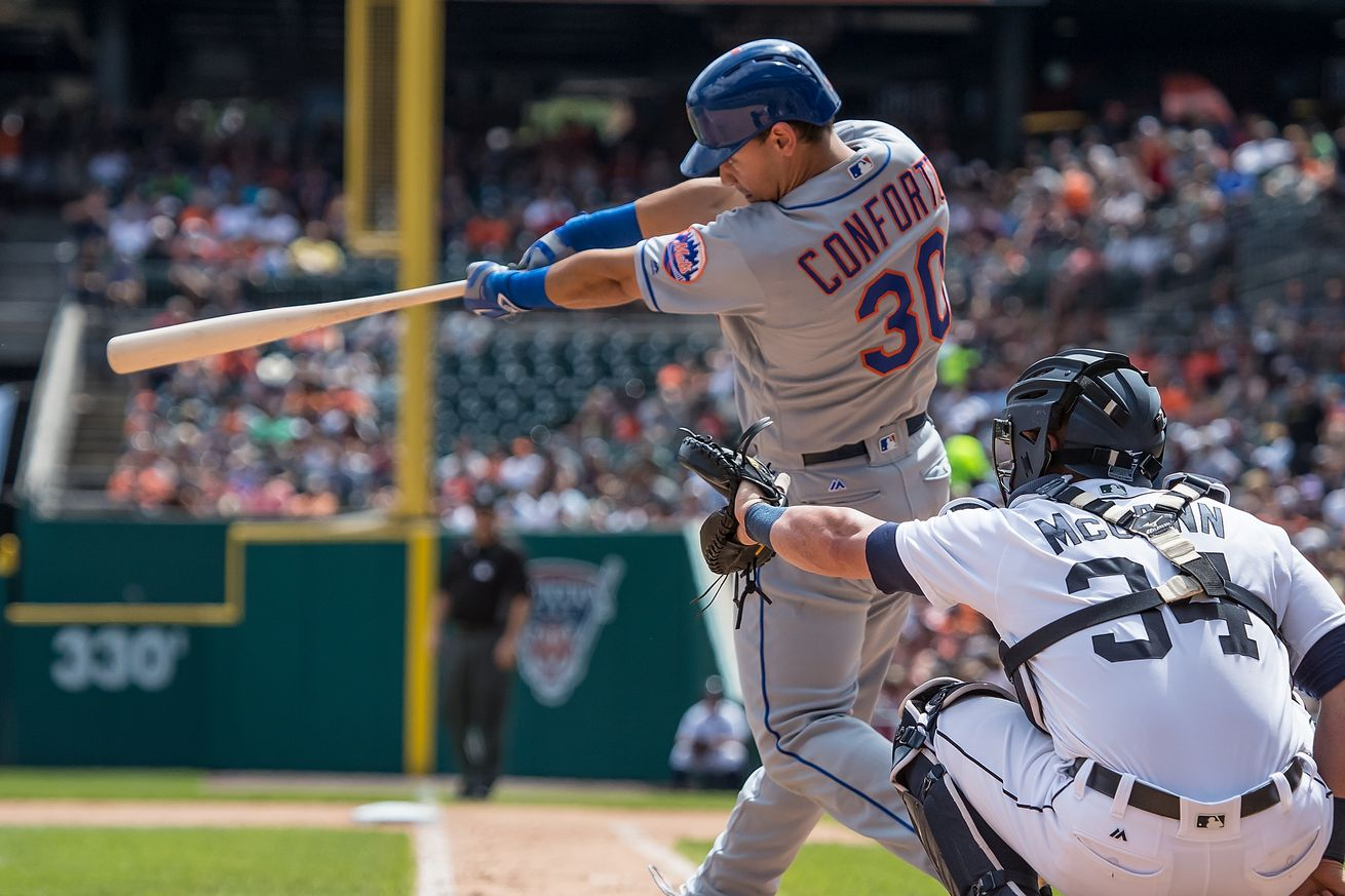 Mets promote P Lugo; OF Conforto to minors