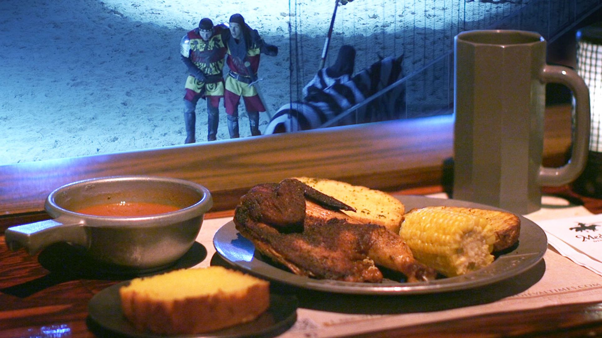 watch how medieval times serves 1 300 chicken dinners in 30 minutes