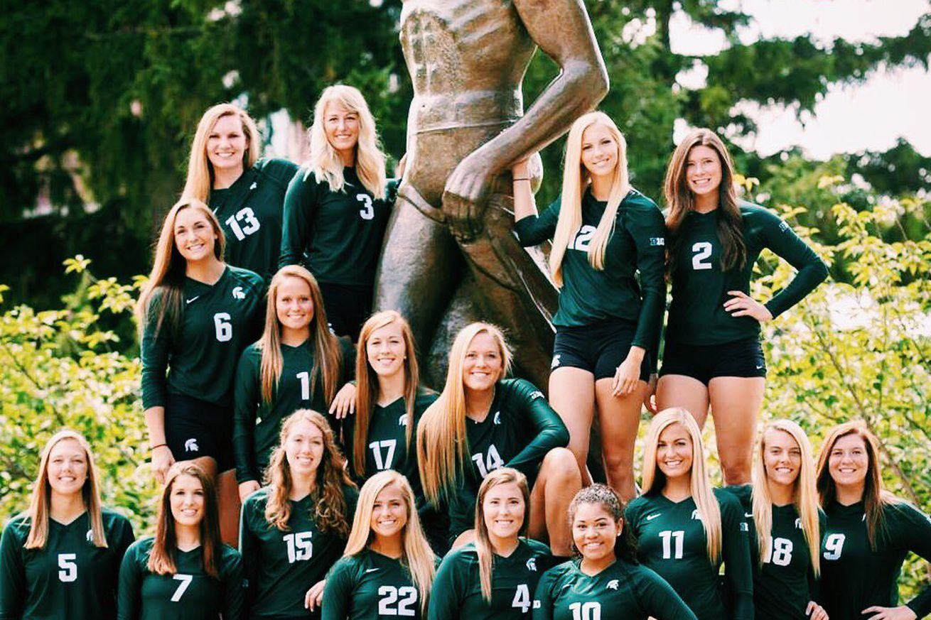 michigan state volleyball team completes  program   colors
