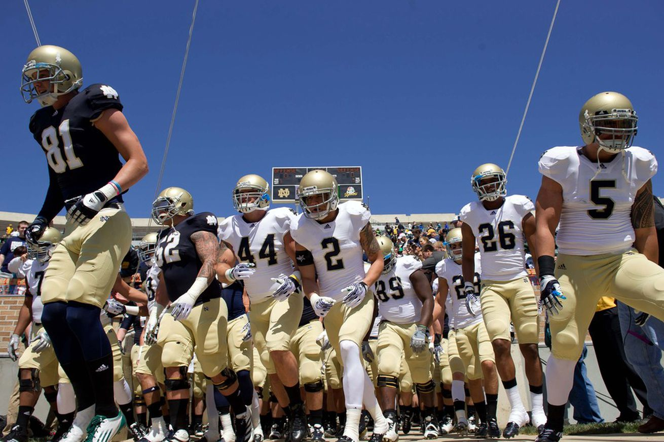 New Notre Dame Football Uniforms, Helmets Released For ...