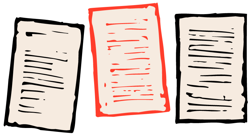 Illustration of paper documents.