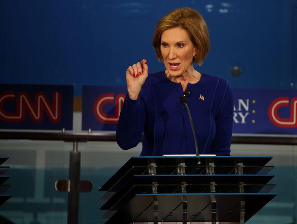 Fiorina at the debate