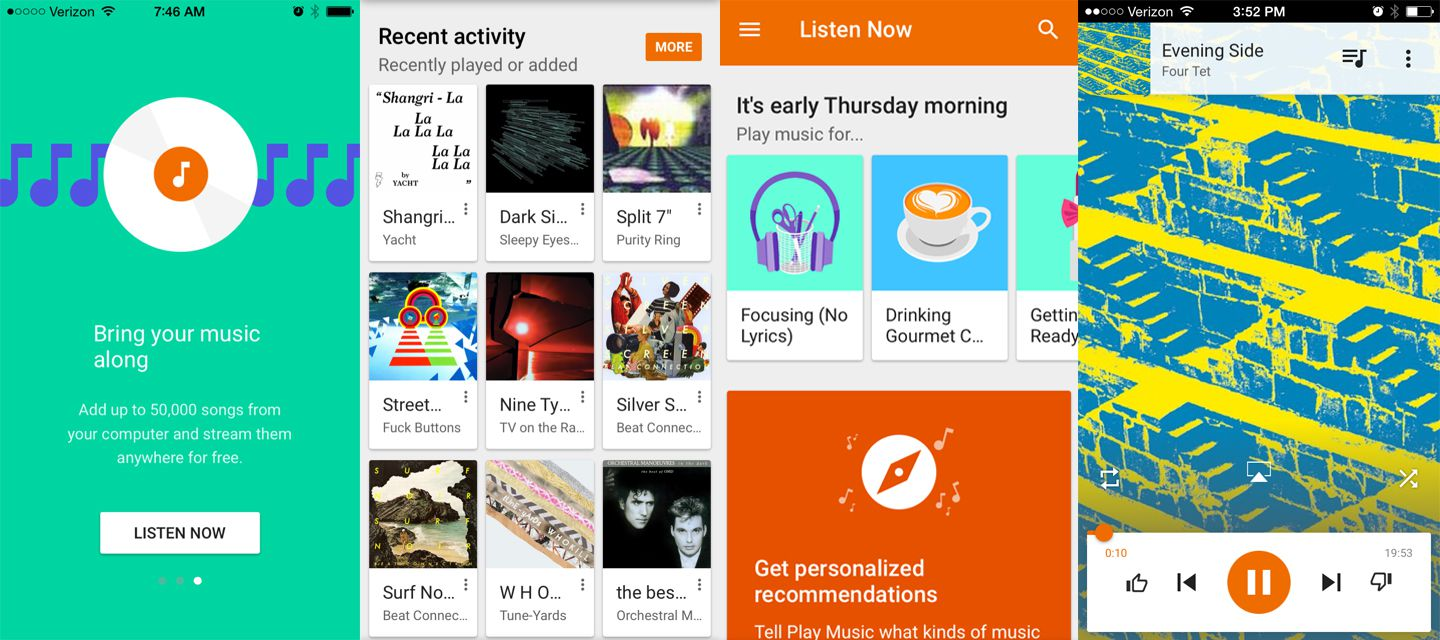 how to get google play music onto phone