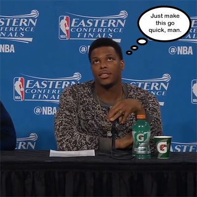 Kyle Lowry's reaction to a box score is enough to tell you ...