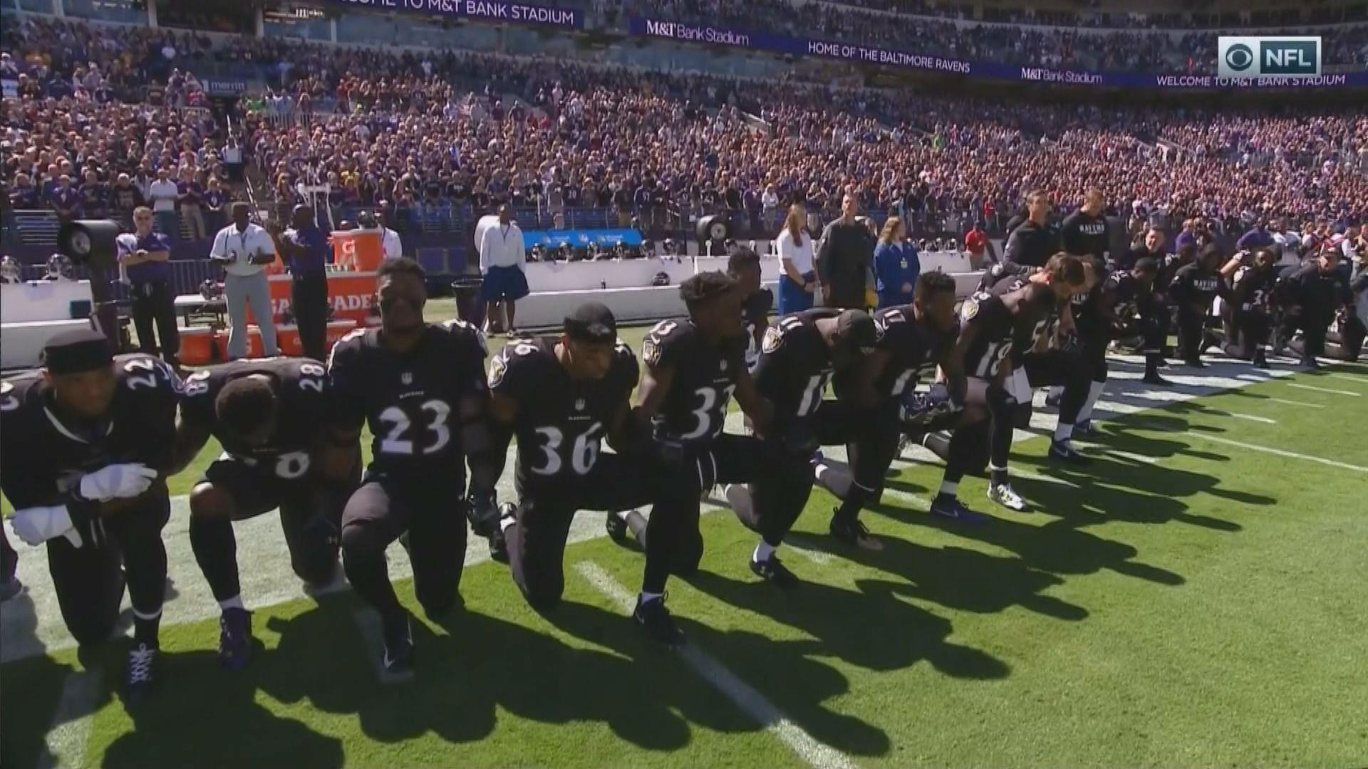 d43845a7474 Ravens fans boo their team for kneeling prior to national anthem -  SBNation.com