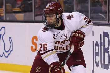 Hockey East: BC Takes Battle Of Comm. Ave. Opener, 5-3