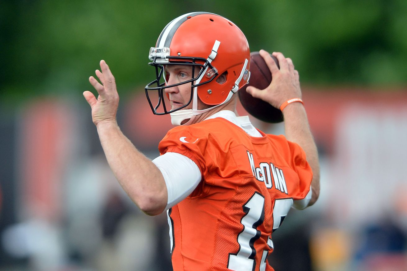 Josh McCown focused on Browns despite interest by Cowboys