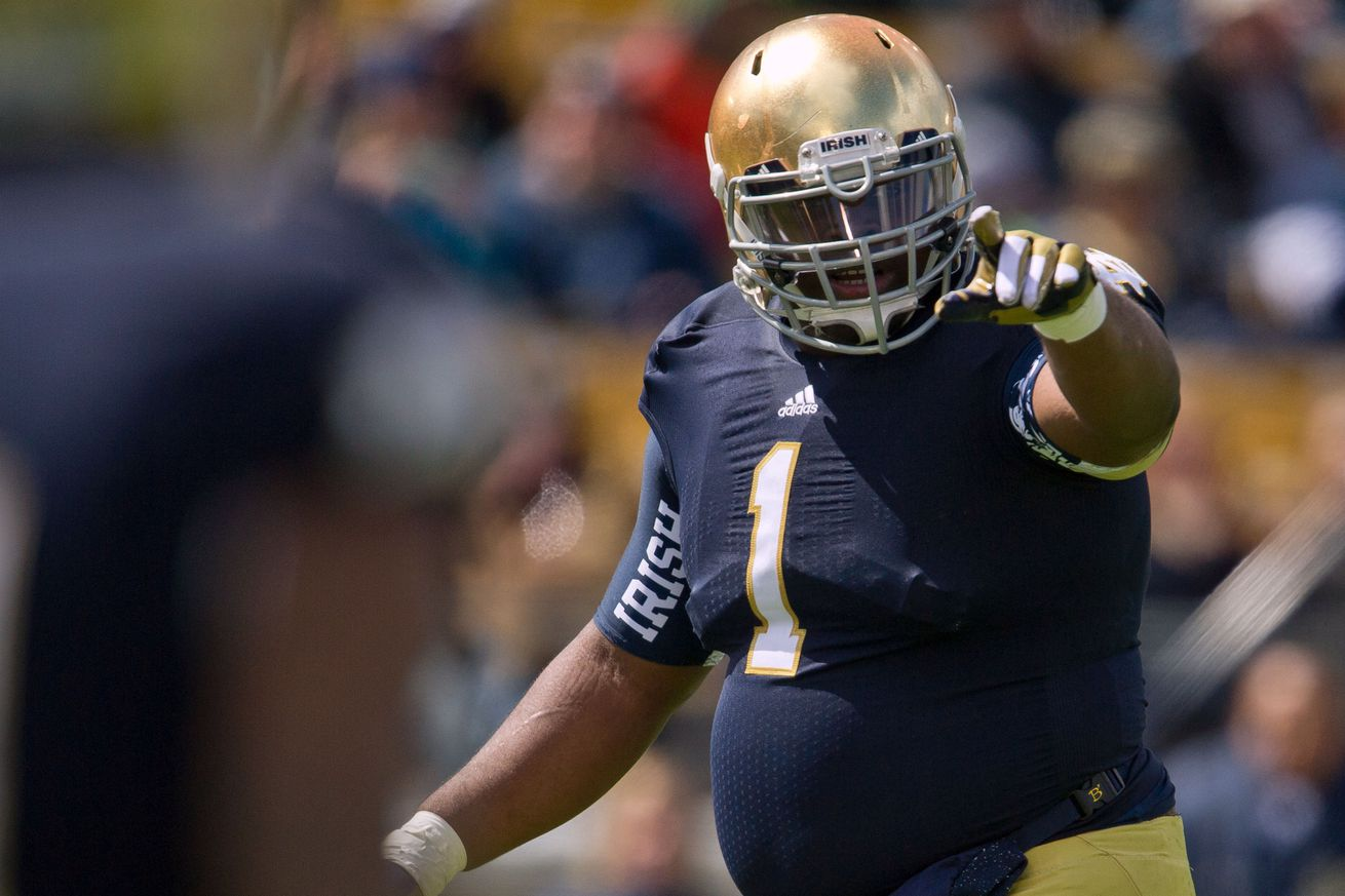 Jerseys NFL Sale - NFL Draft 2014: Louis Nix is living the 'Irish Chocolate ...