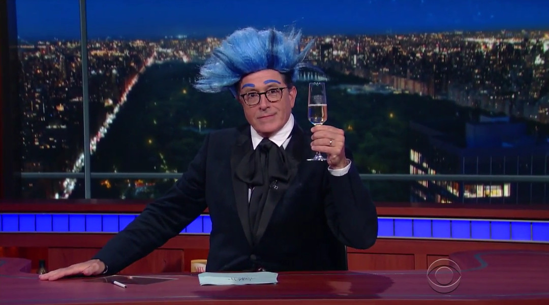 Stephen Colbert gives Bernie Sanders's campaign a bizarre Hunger Games–style sendoff