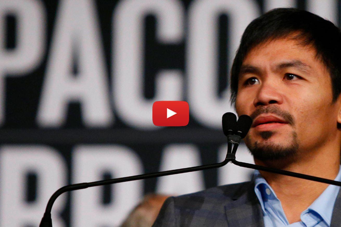 Pacquiao vs Bradley live stream: Watch final pre fight press conference from Las Vegas