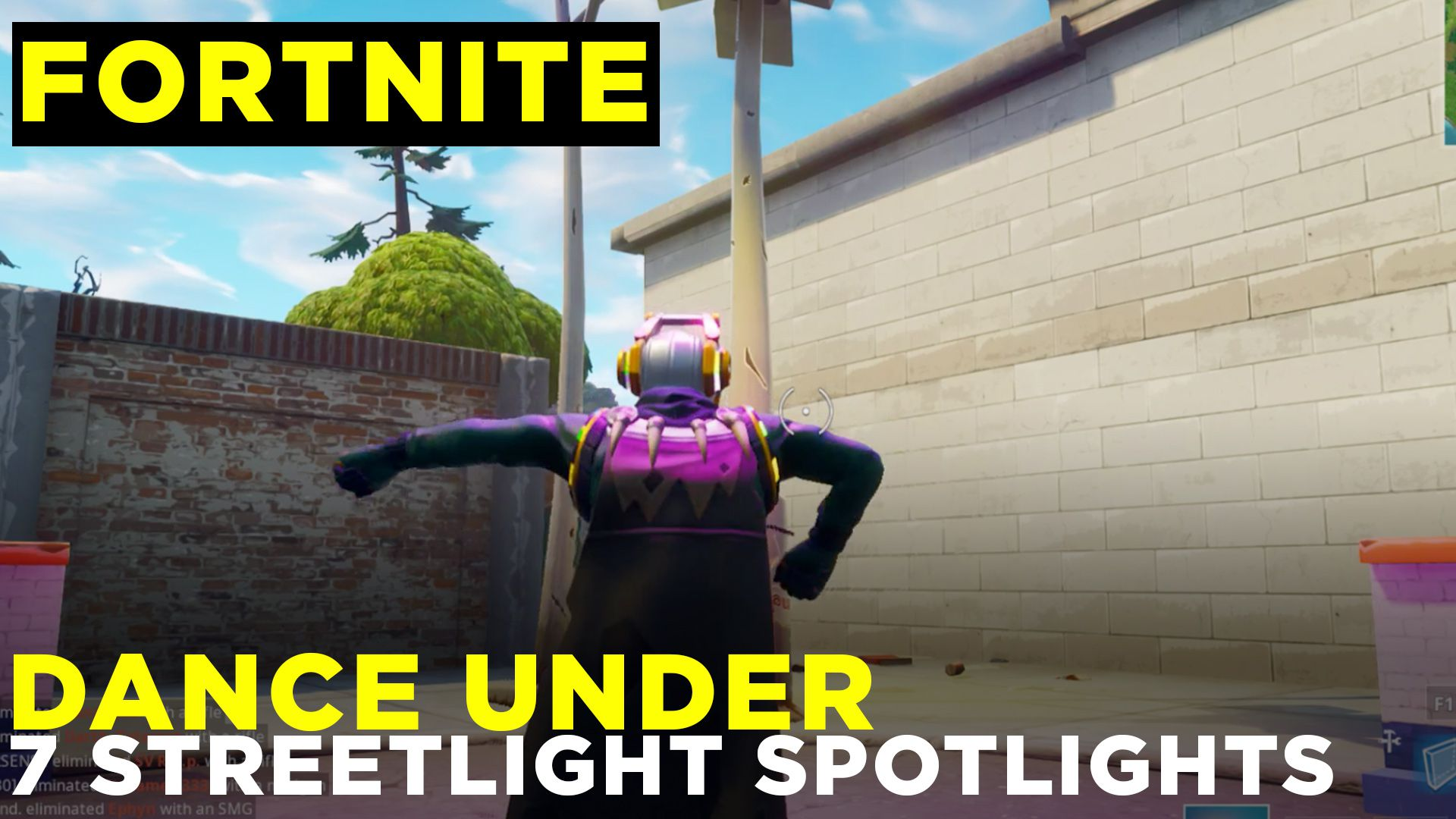 fortnite street spotlights location